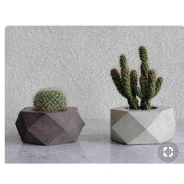 Small polygon G617 granite flower pot